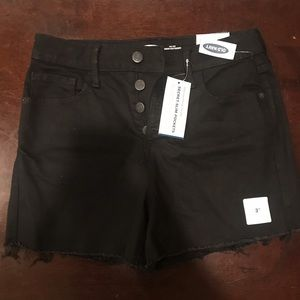 Old Navy Black High-Waisted Shorts